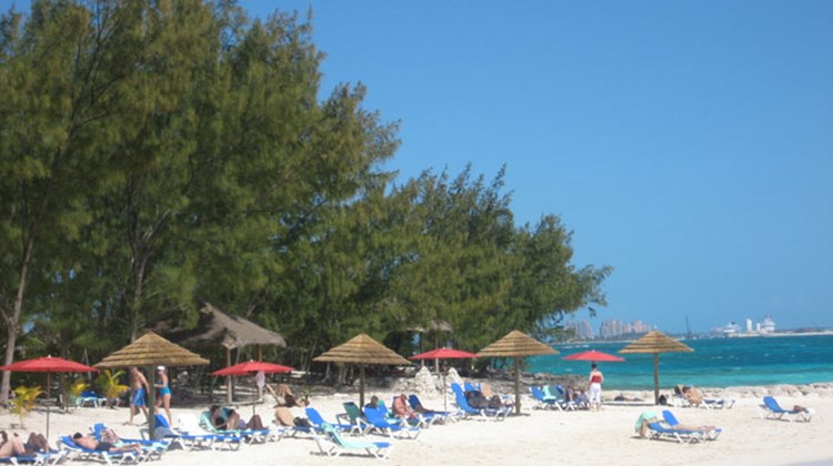 One of several beaches at Sandals Cay, the resort's private offshore island.