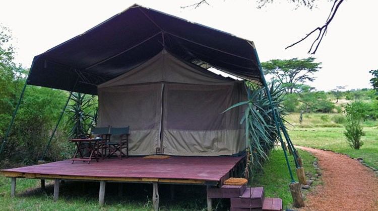 A three-person tent at Gamewatchers Safaris' Porini Mara Camp.