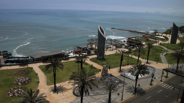 View of the Pacific Ocean from a high floor in Lima's J.W. Marriott.