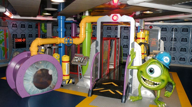 "Inspired by the Disney-Pixar movie ""Monsters, Inc.,"" Monster's Academy is an interactive space for kids in the Oceaneer Club."