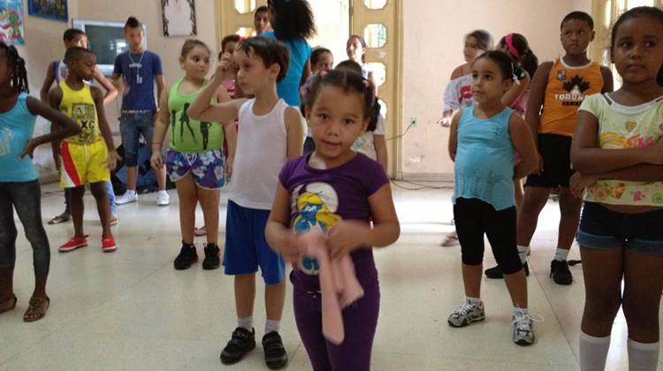 "Children at La Colmenita ""Little Beehive"" Children's Theater in Havana enjoy the art of dance at a young age."