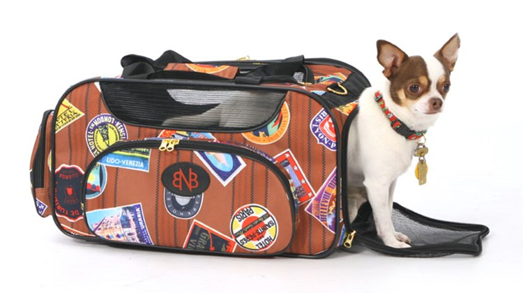 What's New What's Hot is Travel Weekly's look at useful and fun travel gadgets, edited by Joe Rosen. First up, the Bark n Bag Traveler Weekender. No pampered pooch or kitty on the go should be without this classy pet carrier, whose polyester-fiber fabric, which features faux travel stamps from all over the globe, is made of recycled plastic PET bottles (no pun intended).