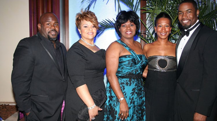 """Meet the Browns"" co-stars David and Tamela Mann; Vernice Walkine, director general of the Bahamas Ministry of Tourism and Aviation; U.S. Ambassador to the Bahamas Nicole Avant; and actor Michael Jai White attended the international premiere of ""Why Did I Get Married Too?"" in Nassau."
