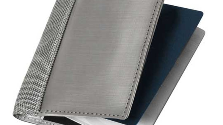 The Stewart/Stand Passport Sleeve is made of a woven fabric of stainless steel and a semi-reflective, abrasion-resistant ballistic nylon, and while that might imply needless heft, the reality is this product is a sleek and stylish, lightweight alternative to a traditional leather model. In addition to its good looks, it offers Radio Frequency ID-blocking protection to keep you safe from identity thieves.