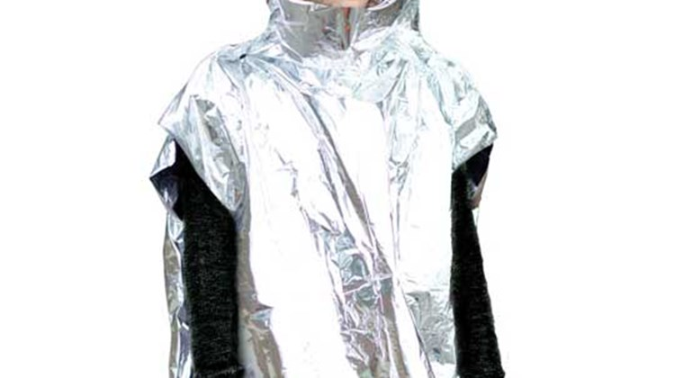 More modest in intention and price than the prior product, Coghlan's Emergency Survival Poncho is made of a composite layering of polyethylene and a reflecting metalized aluminum to help reduce heat loss in an emergency where hypothermia is a risk. The one-size-fits-all poncho, which measures 1 by 4 by 6 inches in its pouch package and weighs 3.8 ounces, comes with a hood and reinforced seams.
