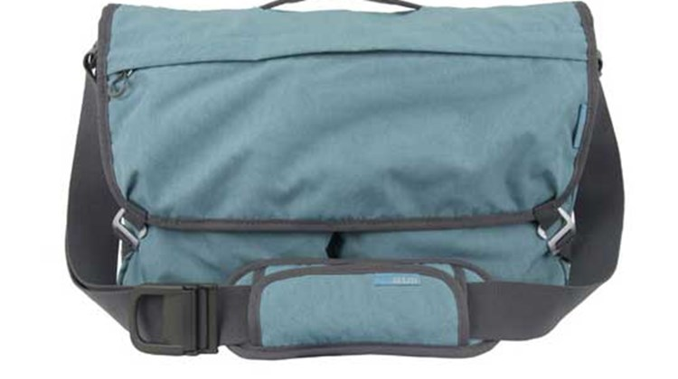 A practical organizer for short trips and long, the STM Velo 2, which can accommodate a small laptop or tablet, offers a front fleece-lined drop pocket, a messenger bag-style flap, two zippered side pockets, a slip pocket for paperwork, a slip-over for securing the Velo 2 to a luggage handle and a padded and adjustable shoulder strap. A side-entry compartment lined with corduroy and high-density foam protects your laptop.