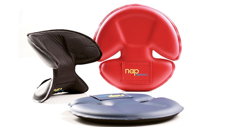 What's New, What's Hot is Travel Weekly's look at useful and fun travel gadgets, edited by Joe Rosen. First up is NapAnywhere, the latest thing in travel pillows -- small enough to fit flat in a briefcase or laptop carry-on and designed to provide effective head support when you are seated, for example, in an airplane. This contraption could be the difference between sleeping through a long-distance flight or arriving, instead, sleepless and with a stiff neck.