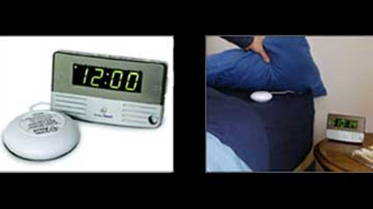 "Another device small enough for a carry-on but powerful enough to rouse the heaviest sleeper, this lightweight, battery-operated travel clock comes with a pillow vibrator that puts the shake in ""shake a leg."" A 90-decibel alarm will also get your attention. Try sleeping through those two. The Sonic Alert, which runs on two AA batteries, includes a travel case and a pillow strap to secure the alarm to your pillow."