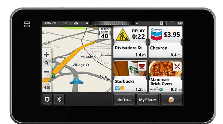 The latest product from Magellan, the Smart GPS, uniquely combines a typical direction-determining GPS and a smartphone to push real-time and local information from Yelp and Foursquare to the device's 5-inch screen. The screen also displays local fuel prices, traffic updates and area weather. Moreover, in-depth destination searches for points of interest and addresses can be downloaded directly from your phone to the Smart GPS via a WiFi or Bluetooth connection.
