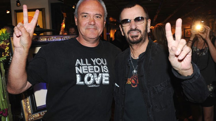 Hard Rock International's President and CEO Hamish Dodds (left) and rocker Ringo Starr celebrated Starr's 70th birthday at Hard Rock Cafe New York on July 7.