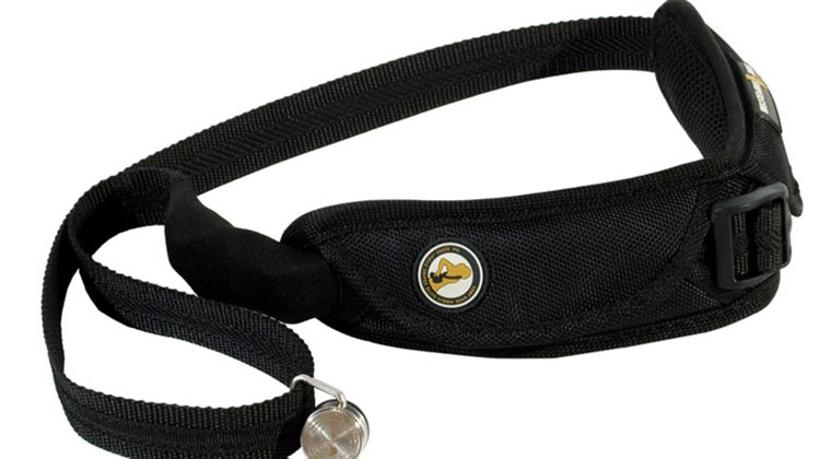 "Unlike conventional camera straps that pull at your neck or allow your camera to bang on your chest while you walk, the Sun Sniper Pro Camera Strap's ""sling"" design reduces neck and shoulder strain while a built-in shock absorber and a stainless steel ball-bearing swivel limit camera movement. In addition, steel wire running inside the strap provide security against theft."