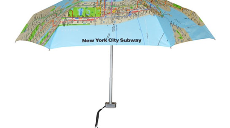 What's New, What's Hot is Travel Weekly's look at useful and fun travel gadgets, edited by Joe Rosen. First up, the Genie Compact Umbrella. No world-traveling, proud New Yorker should be without this umbrella featuring a map of the New York City subway system printed on a polyester-pongee fabric. The umbrella is stylish and practical for a foggy day in London town or the perfect accessory when you want to tell a snooty Parisian where to get off (or on, for that matter). The Genie is small enough to fit inside of a purse or briefcase.