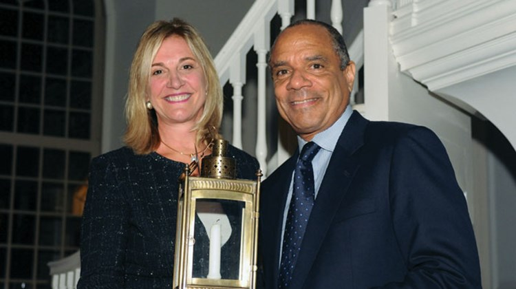 Old North Foundation honored Kenneth Chenault, CEO of American Express, with its third Lantern Award for individual commitment and dedication to public service. Robin Tauck, a member of the Old North board and the founder of Robin Tauck and Partners, introduced Chenault at the awards ceremony.