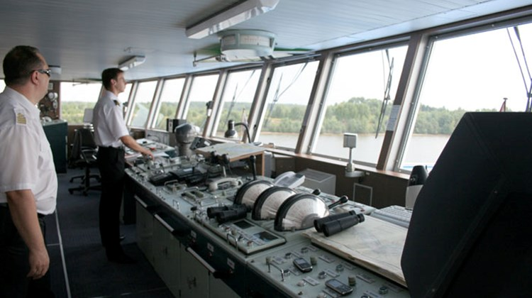 Passengers were impressed with the high-tech navigation equipment in the Viking Pakhomov's wheelhouse