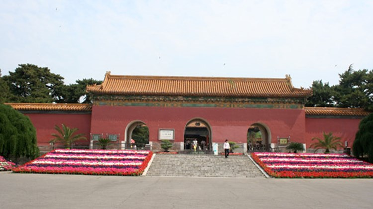 Only a handful of visitors at the Ming Tombs just outside of Beijing.