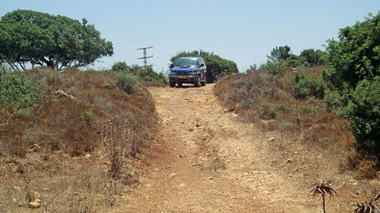 "LionOps' activity options include off-road ""land navigation exercises"" using four-wheel-drive vehicles to negotiate challenging terrain such as that at Chof HaCarmel, above"
