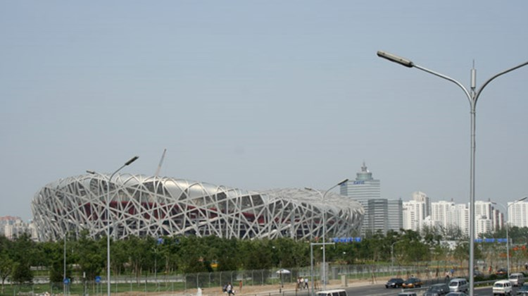 Readying the National Stadium, aka the Bird's Nest, for the Aug. 8 Beijing Olympics opening ceremony.