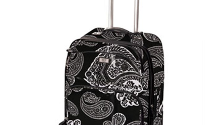 If you want to sport the most attractive suitcase on the baggage carrousel, the Gigi Hill Marie Rolling Suitcase is the bag for you. The Marie's poly canvas exterior features a black-and-white paisley macro design, one of four patterns the company is offering in its rolling suitcase line. A four-wheel spinner, the bag measures 17 by 24 by 8.5 inches and is expandable by two inches.