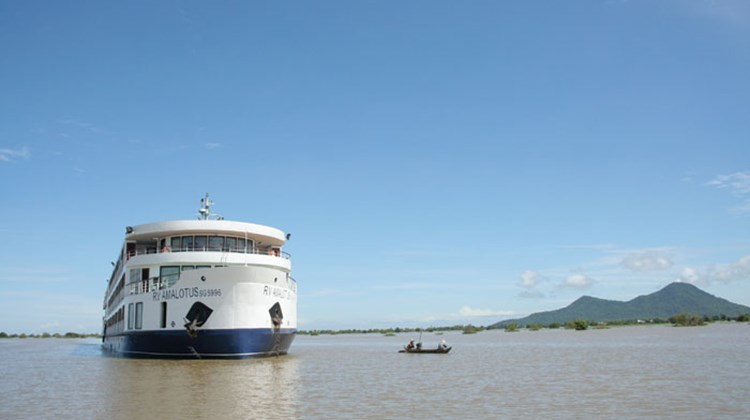 Travel Weekly's Michelle Baran traveled on the Cambodia-Vietnam itinerary for Ama Waterways' new ship, the AmaLotus. Pictured here, the AmaLotus on the Mekong River. Photos by Michelle Baran. Posted: Nov. 10, 2011