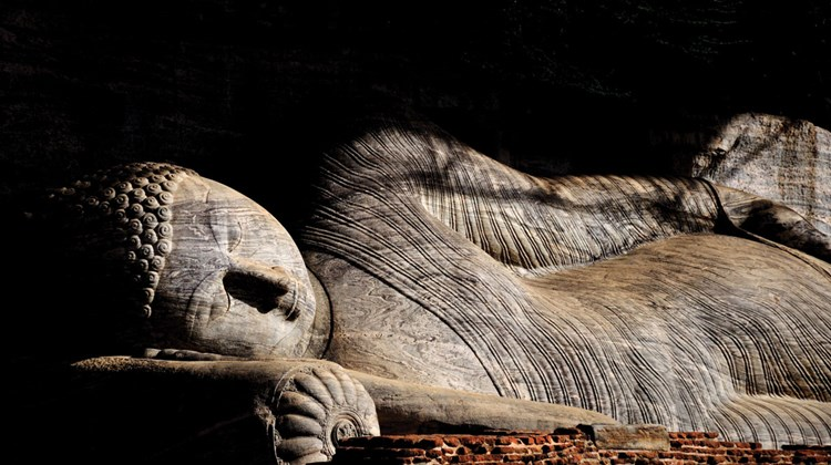 Dambulla's reclining Buddha is one of more than 150 statues of the Buddha found in this ancient cave system