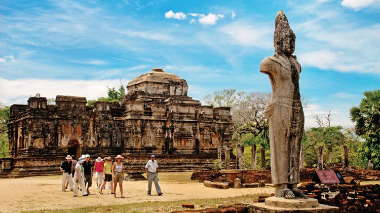 Ancient cities like this along the Cultural Triangle are major attractions for tourists in Sri Lanka, in addition to idyllic beaches and good food