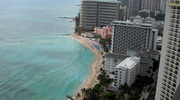 Hawaii's most famous beach is still Waikiki Beach in Honolulu, and its most iconic hotel is still the pink Royal Hawaiian.  Managing Editor Rebecca Tobin captured the following photos of Oahu hotels and highlights, starting with views from the penthouse floor of the Aston Waikiki Beachside Hotel.