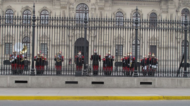 Pomp and Circumstance: Lima's changing of the guard at the city's colonial palace