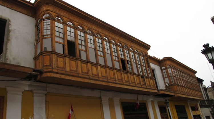 Moorish Influences: Spain's Moorish heritage shows as balconies in Lima