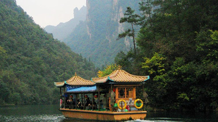 A 15-minute drive from Zhangjiajie's city center, Baofeng Lake offers travelers a chance to explore some of the region's geologic wonders by boat.