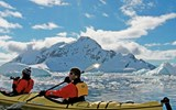 Quark offers kayaking as an optional excursion. Antarctica's ethereal light lasted well into the evening,