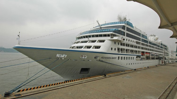 The Azamara Quest was calling in Nagasaki when a 9.0 magnitude earthquake struck Japan.