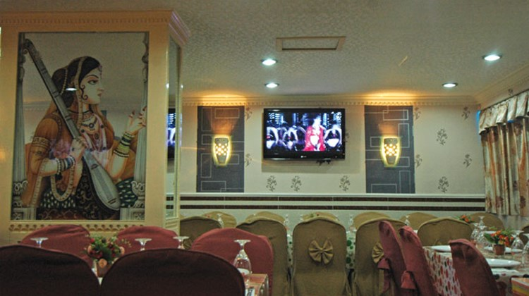 The interior of the Bombay Club (or restaurant) in Chungking Mansions.