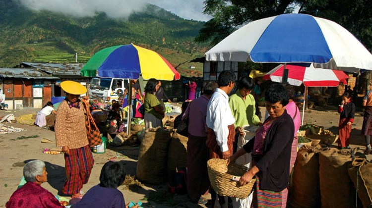 The market in Wangdu Phodrang.