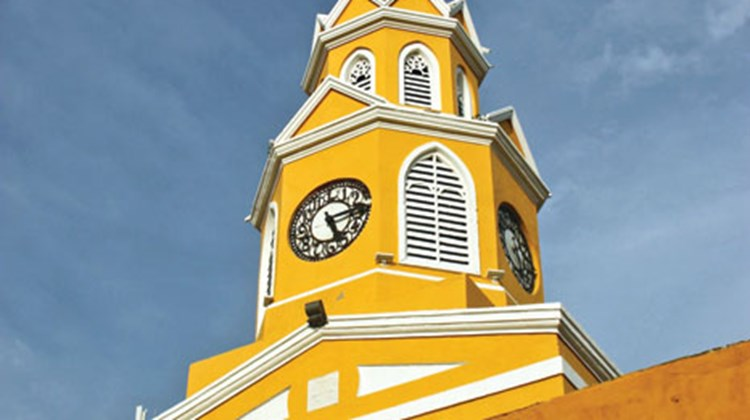 The Cartagena Clock Tower in Old Town.