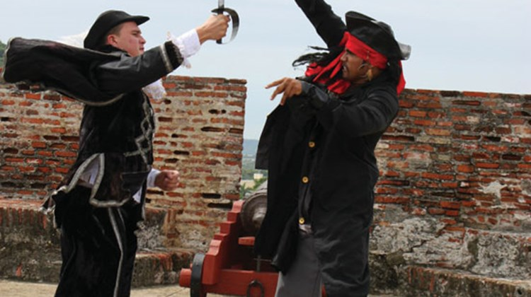 A performance on the grounds of the San Felipe Castle, a fortress built specifically to deal with pirates.