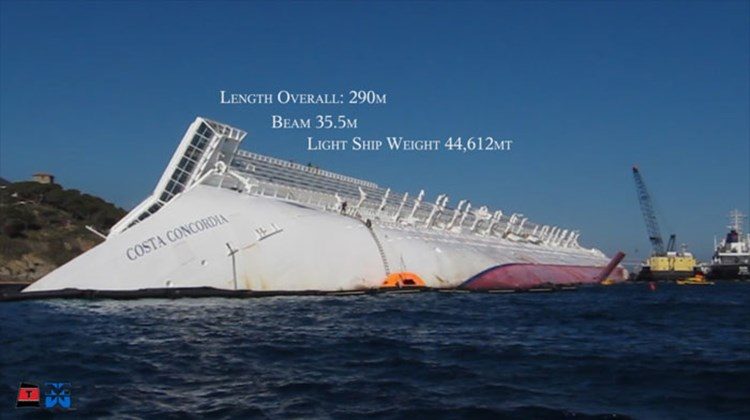 The Costa Concordia has been half-submerged off the Italian island of Giglio since January. The following images indicate how two salvage companies intend to remove the vessel. Images courtesy of Costa Cruises; posted May 24, 2012.