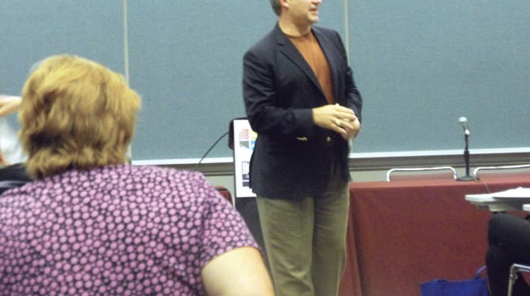 "Scott Koepf of America's Vacation Center during his session: ""Stop Selling Travel and Make More Money."""