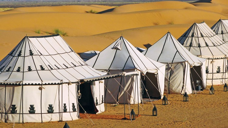 Tented camps in Morocco provided by Abercrombie & Kent.