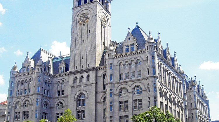 Washington D.C.'s Old Post Office Pavilion, leased by Trump.