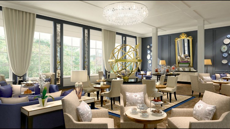 Amsterdam's Waldorf Astoria, shown in a rendering, will open in March.