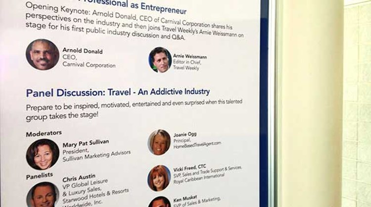 The conference program at CruiseWorld. TW photo by Rebecca Tobin