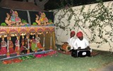A traditional Indian puppet show.