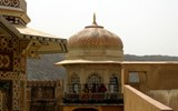 The palace in the ancient capital of Amber in the state of Jaipur.