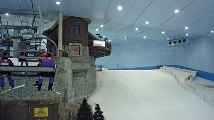 Ski Dubai, the world's largest indoor ski hill, at the Mall of the Emirates.