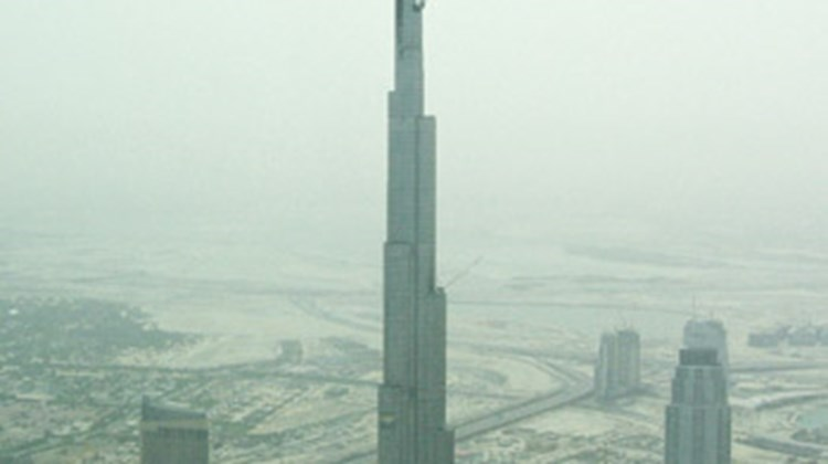 The world's tallest building, the Burj Dubai, scheduled to open in September.