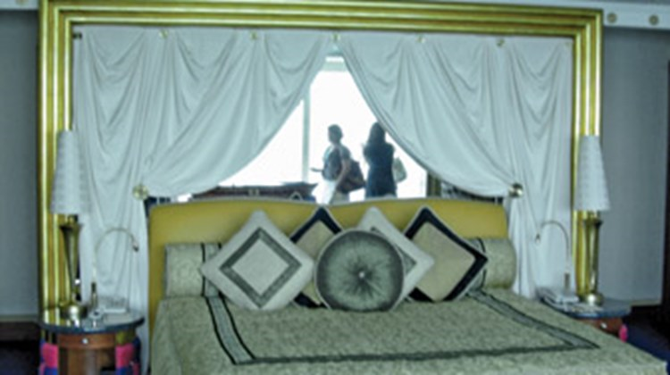 A suite bedroom at the Burj al-Arab.