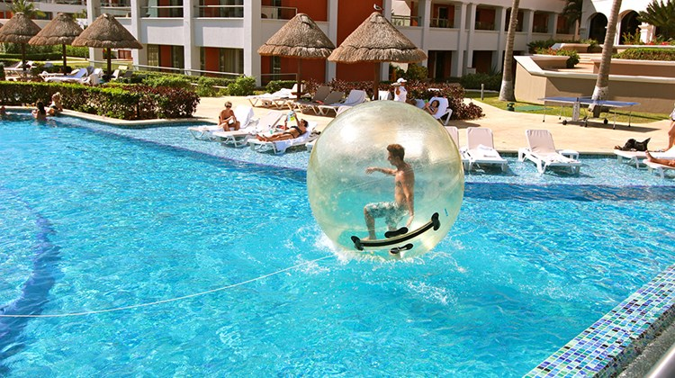 Fun activities for older kids and adults are also seen at the Hacienda pools.