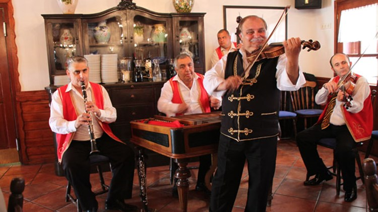 Gypsy entertainers, often a part of planned tours in Hungary.