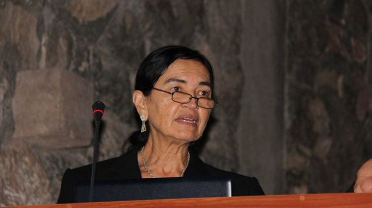 At the educational forum, Dr. Ruth Shady, Peru's foremost archeologist, discussed the discovery and excavation of the Caral-Supe site, the oldest settlement found in the Americas.