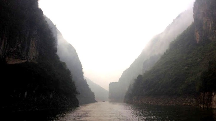 A ferry ride through a tributary of the Yangtze River.